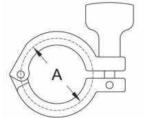 DIN Single Pin Clamp Dimensions